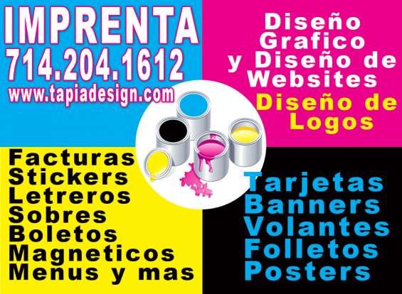 Imprenta tarjetas de negocio flyers letreros banners