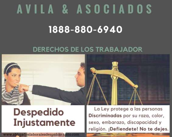 Abogados despidos injustos,lesiones o accidentes laborales
